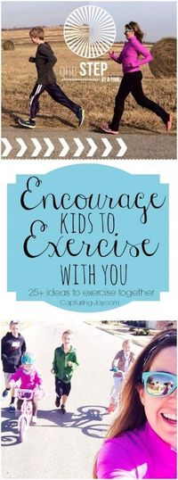 25+ Ideas to Exercise with Kids, mostly free, some outside, some inside.