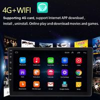 10.1 Inch Android 8.1 Car Stereo Radio MP5 Player HD Touch Screen GPS bluetooth 4G WIFI DAB Support Rear Camera