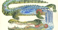 """PSYCHOTROPIC ILLUSTRATIONS - Daniel Mackie is an award-winning illustrator who started practicing his craft in 1995. He creates a prismatic/psychotropic visions in watercolor �€"""" striking and engagingly esoteric. Each animals richly colored hab..."""