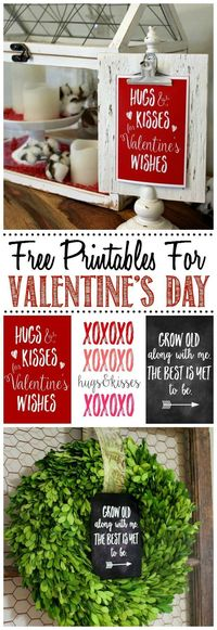 Free Valentine's Day printables and unique ideas for how to use them in your Valentine's Day decor!