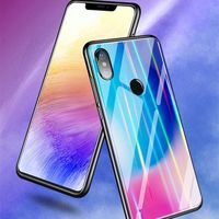 Bakeey Laser Aurora Gradient Tempered Glass Shockproof Protective Case For Xiaomi Mi 8SE 5.88 Inch