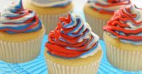 """Red, White and Blue Cupcakes �€"""" A delicious and simple recipe perfect for July 4th, or for whenever you're feeling Patriotic! 