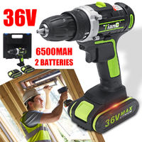 36V Cordless Electric Screwdriver Lithium Battery Eletric Power Driver Drill Tool