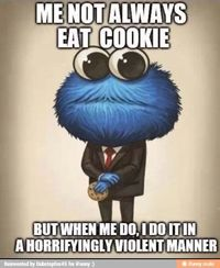 cookie monster and monsters.