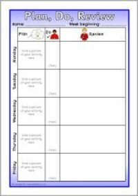 Weekly plan, do, review sheets (SB7033) - SparkleBox