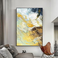 Gold leaf Modern Abstract acrylic paintings on canvas art original painting framed wall art wall pictures cuadros abstractos $123.75