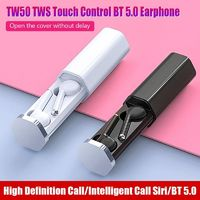 Bakeey TW50 TWS Wireless bluetooth 5.0 Earphone HiFi Stereo Smart Touch Bilateral Call Headphone with Charging Box