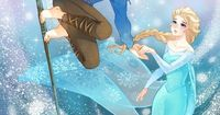 Jack Frost & Queen Elsa Dreamworks rise of the guardians and Disney princess from frozen