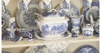blue & white transferware - we will be together someday...in a beautiful collection just like this...