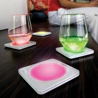 Lumiware Color Changing Coasters Successfully Adds Under Glow to Your Drinks