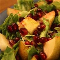 Pear and Pomegranate Salad-- This is my favourite fall salad; last night I made it for the first time this year.
