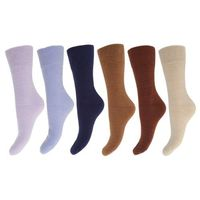 FLOSO® Ladies/Womens Best Quality Multipack Thermal Socks, Double Brushed Inside (Pack of 6)
