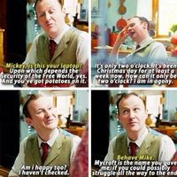 I wonder how difficult it was for Gatiss to be mean towards Benedict's Mother!