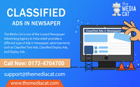 Classified Ads playing a dominant role in the history of Newspaper Advertisement. TheMediaCat is an authorized Advertising Agency to book your Classified Ads in Newspapers online in India at the nominal rate. To Book Ads in Newspapers, please visit the we...