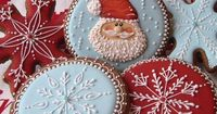 You could omit the santa and snowflakes and put other designs on these Christmas cookies