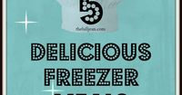 5 Delicious Freezer Meals that actually look yummy after being in the freezer #food #crockpot #freezermeals