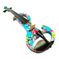 Kinglos 4/4 Full Size Ebony Fitted Solid Wood Colored Intermediate A Electric Violin