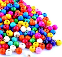100 x Assorted Candy Colours Round Wooden Beads. 8mm x 6mm Spacers w/ 2mm Hole. Ideal for Creating Unique Jewellery, Bracelets & Crafts £2.49