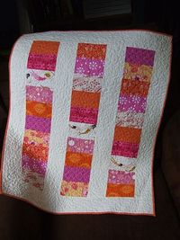 From Urban Crunch. Perfect, easy quilt pattern for baby gifts.