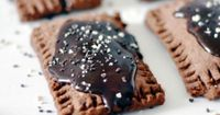 Holy chocolate goodness: http://www.stylemepretty.com/living/2015/05/18/homemade-chocolate-poptarts/ | Recipe: Lark + Linen - http://www.jacquelynclark.com/
