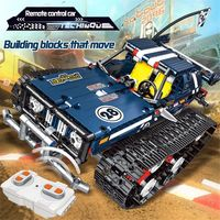 13025/26 2.4G Suspension Vehicle Building Block Kits Tracked RC Car DIY Bricks Toys 626Pcs