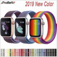 Band For Apple Watch Series 3/2/1 38MM 42MM Nylon Soft Breathable Replacement Strap Sport Loop for iwatch series 4 40MM 44MM $5.95