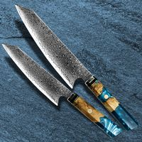 Chef Knife Set Professional Kitchen Knives Stainless Steel Cooking Tools Stabilized Wood Handle $98.00
