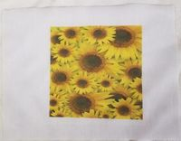 Fabric Panel, Sunflowers, 4x4 or 6x6 or 8x8, Poly Quilt Fabric by the Square, Crafts, Quilts, Quilters, Patchwork, Needle Point, Sewing $7.95
