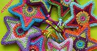 Crochet pattern colorful star by ATERGcrochet