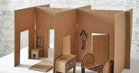 Inspire your kids to recycle with this collection of DIY cardboard dollhouses.