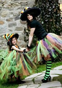 Witch costume (with daughter) - I'd love to be a witch at work with the students ;)