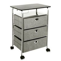 Buy Richards Homewares 3-Drawer Rolling Cart in Grey from Bed Bath & Beyond $39.99