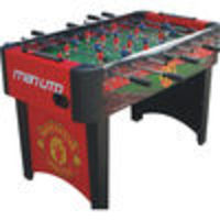 HY-PRO Licensed 4ft Manchester United Table The 4ft officially licensed club football table with fixed legs for extra stability.This football table is designed with the stadium name with graphics of the clubs crest on each side and finished wit http://www...
