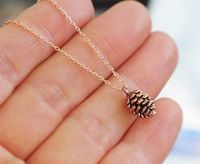 Rose Gold Pine Cone Necklace