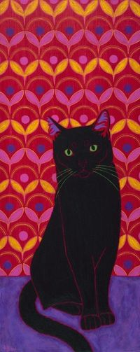Crazy Sexy Cool Cat Pop Art Black Cat Print by by dogpopart, $28.00