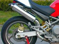 "�™� www.DESMOHEART.com �™� SPARK Ducati Monster High Position Slip-on Exhaust ""Round"" (EU homologated; steel) �'�596.00"