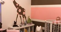 Shannon Darby aka Pink Wallpaper created and designed this beautiful nursery for her little girl. Her husband helped with the time consuming paint job. Don't yo