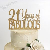 21 Years of Fabulous Birthday Bamboo Cake Topper Any Age