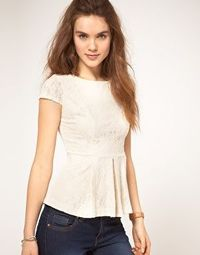 Enlarge A Wear Lace Shell Top With Peplum