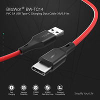 3 x BlitzWolf® BW-TC14 3A USB Type-C Charging Data Cable 3ft/0.91m For Oneplus 6T Xiaomi Mi8 Pocophone f1 S9