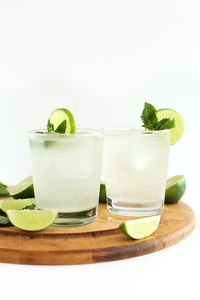 4-ingredient Gin and Tonic cocktails infused with naturally sweet coconut water for a refreshing, healthier cocktail perfect any time of year.