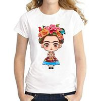 Frida Kahlo as Child on a T-Shirt / Top ( White Background) $22.99