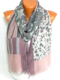 Scarf, Shawl, Newspaper printed Scarf, infinity Scarf, Star Printed scarf, Womens Accessories, Lightweight Summer Scarf, Gift for Christmas $17.50