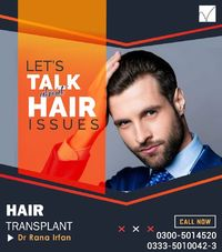 Quality Hair Transplant by American Board Certified Surgeon Dr. Rana Irfan at Vagus Islamabad