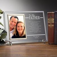 """This """"To My Dad"""" engraved glass frame is beautiful - it's the perfect gift to get the father of the bride after the wedding! Talk about a tear jerker! #Wedding"""