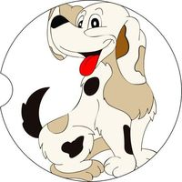 2 Absorbent Car Coasters, Cartoon Dog, Car Accessories for her, Auto Coaster, Coaster, Cup Holder Coaster, Gift For Her, For Him $14.00