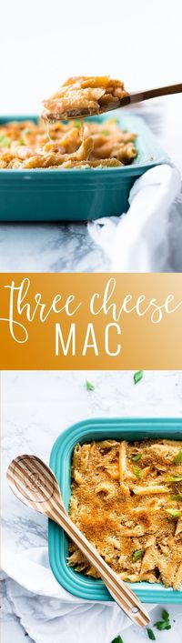 Three Cheese Mac - Homemade Macaroni and Cheese | easy macaroni and cheese recipes | homemade pasta recipes | how to make macaroni and cheese | macaroni and cheese recipes | cheesy macaroni recipes || Oh So Delicioso
