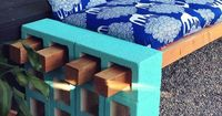 Cinderblock + Wood Outdoor Seating | this is great