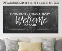 Every Family Has A Story - Large Canvas - Above Couch Living Room Decor - Housewarming/Wedding Gift $45.99