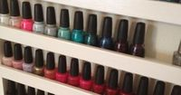 I am so asking my Dad to make one of these. Maybe two. One for me and one for my girl. How to: Build Your Own Nail Polish Rack | PRODUCT HAG